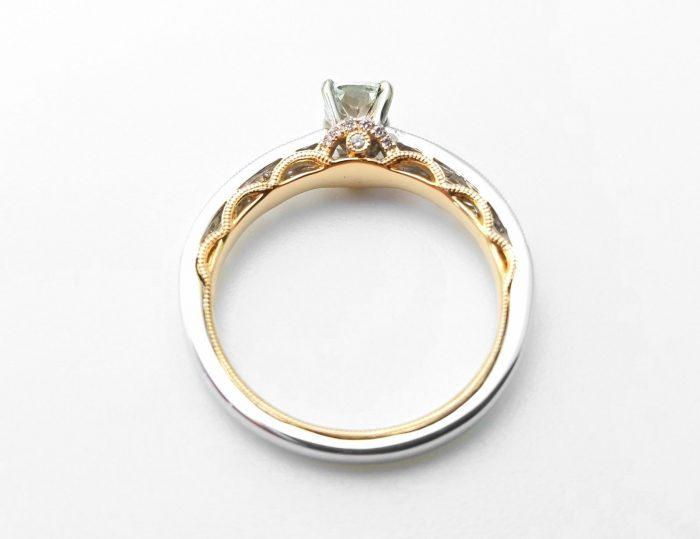57 2 5 700x539 - 0.67ct Natural Fancy Light Green Diamond Engagement Ring GIA 18K Gold VS2