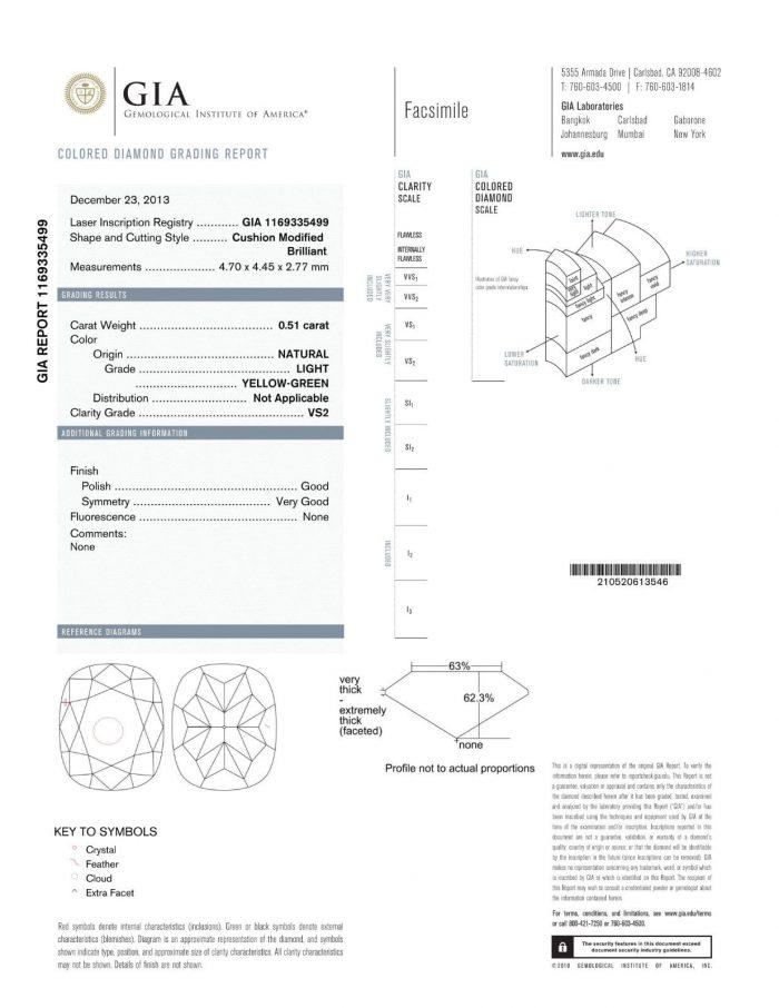 57 2 6 700x906 - 0.67ct Natural Fancy Light Green Diamond Engagement Ring GIA 18K Gold VS2