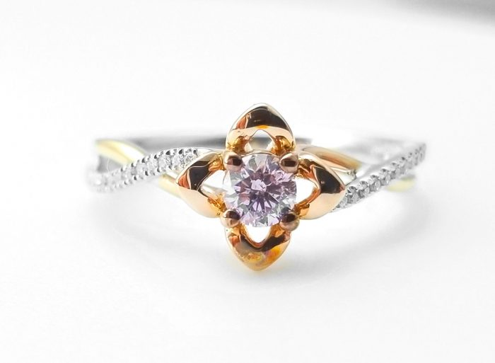 57 7 1 700x513 - 0.52ct Natural Fancy Pink Diamonds ARGYLE Engagement Ring GIA Round 18K Gold