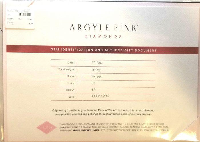 57 7 5 700x499 - 0.52ct Natural Fancy Pink Diamonds ARGYLE Engagement Ring GIA Round 18K Gold