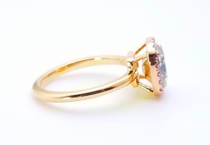 57 1 3 700x484 - 1.68ct Fancy Gray & Intense Pink Diamond Engagement Ring GIA 18K Rose Gold SI1