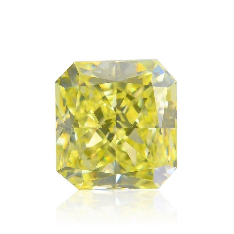Yellow Diamond - 2.25ct Natural Loose Fancy Yellow Canary Diamond GIA Radiant
