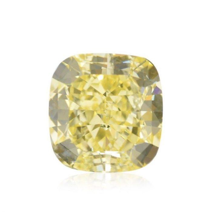 57 12 700x700 - Yellow Diamond - 1.77ct Natural Loose Fancy Yellow Canary Diamond GIA Cushion