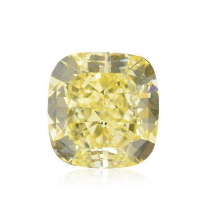 57 13 1 700x700 - Yellow Diamond - 1.77ct Natural Loose Fancy Yellow Canary Diamond GIA Cushion