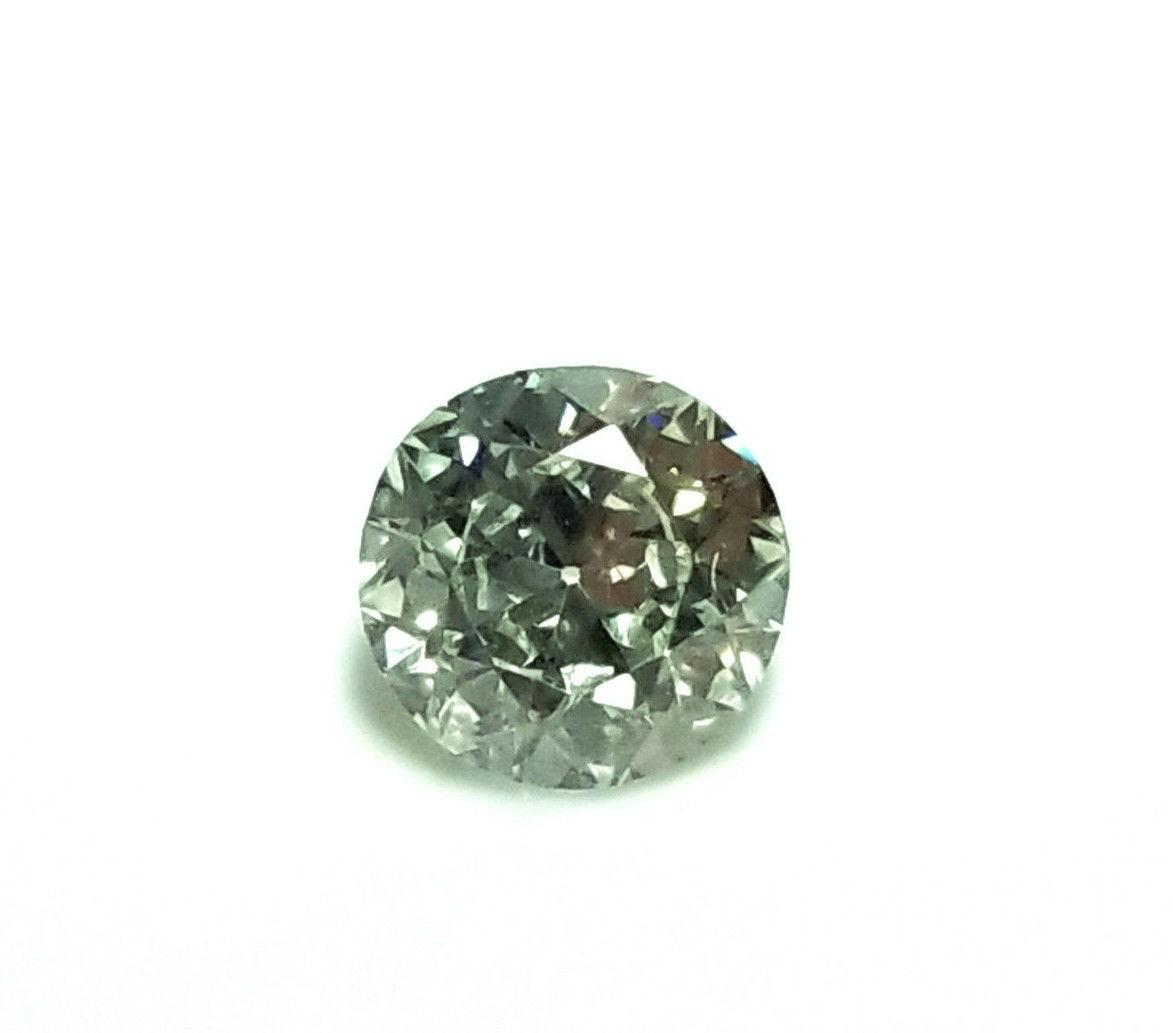 Green Diamond - 0.58ct Natural Loose Fancy Faint Green GIA Round VVS2 European