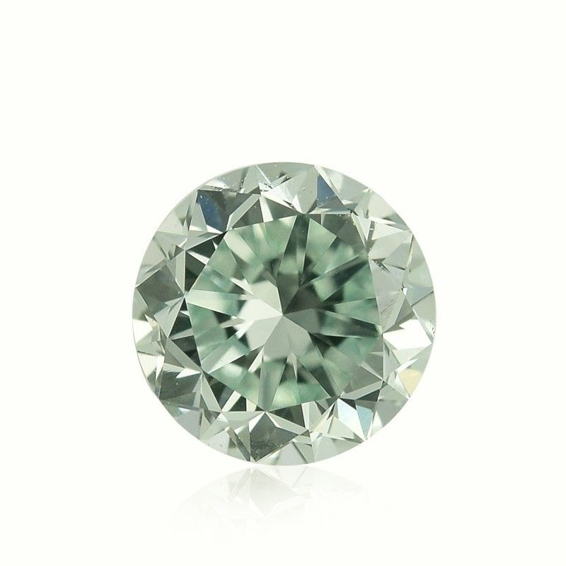 Green Diamond - 0.84ct Natural Loose Fancy Light Yellow Green GIA Round VS2