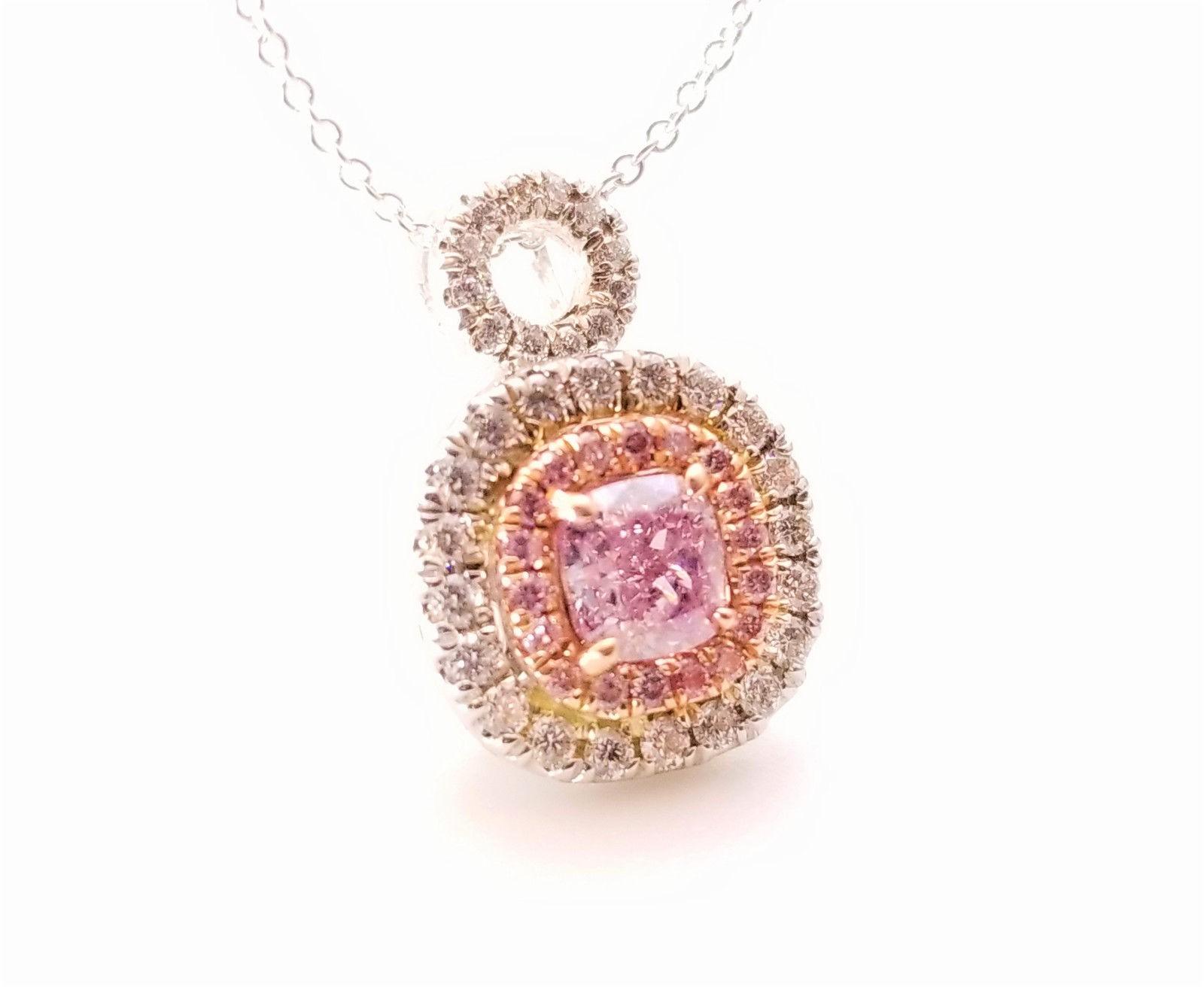 diamond and gold pendant rose p amethyst m purple