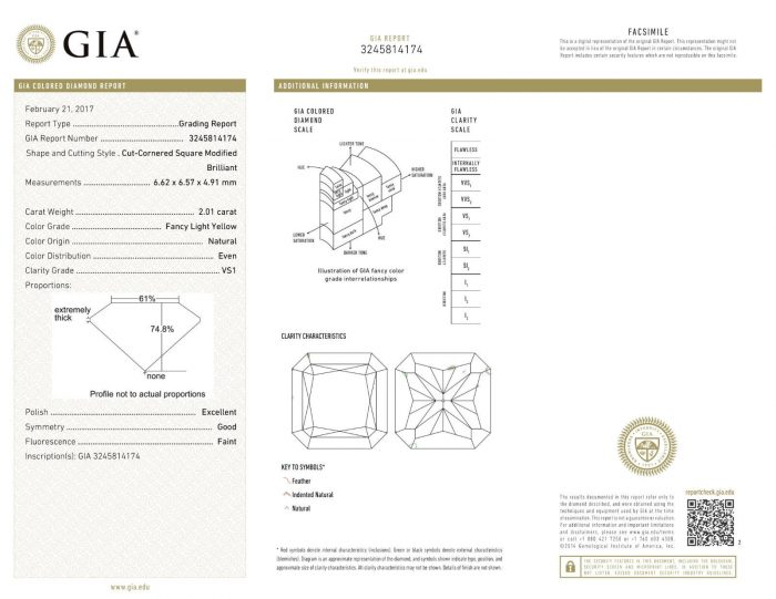 57 7 2 700x541 - Yellow Diamond – 2.01ct Natural Loose Fancy Light Yellow Canary Diamond GIA VS1