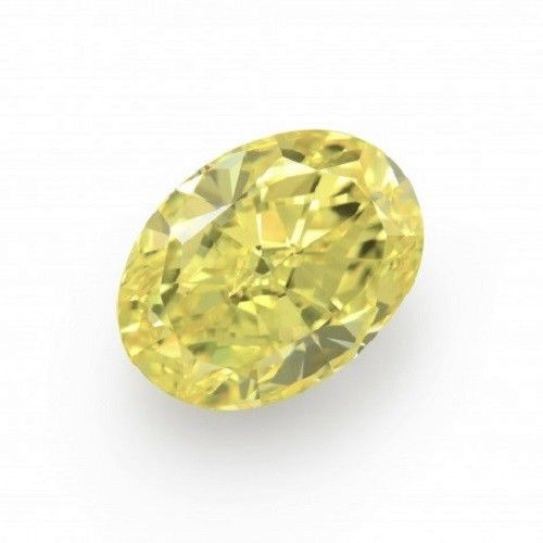 Yellow Diamond - 1.18ct Natural Loose Fancy Yellow Canary Diamond GIA VVS1 Oval