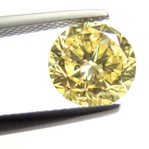 Yellow Diamond - 1.41ct Natural Loose Fancy Yellow Canary Diamond GIA VS1 Round