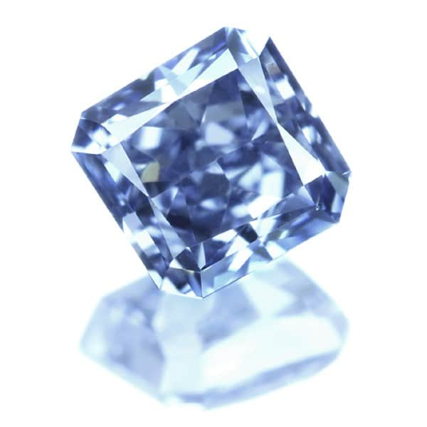 0017 1 - 0.48ct Natural Loose Fancy Intense Blue VS2 Radiant GIA Certified
