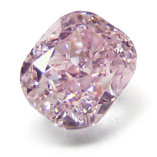 41 - 0.76ct Natural Loose Fancy Intense Pink SI1 Cushion GIA Certified