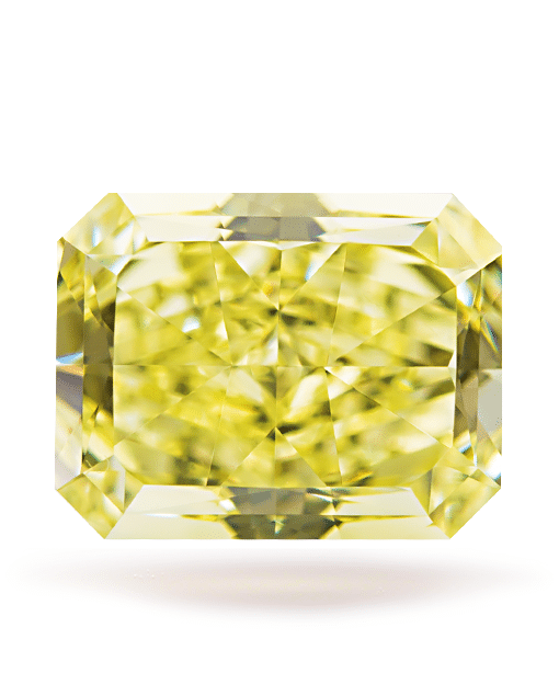 Fancy Yellow Radiant IF - 3.40ct Natural Loose Fancy Intense Yellow VVS1 Radiant GIA Certified