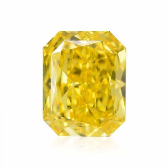 radiant fancy vivid vs1 yellow 700x700 - 1.10ct Natural Loose Fancy Vivid Yellow IF Radiant GIA Certified