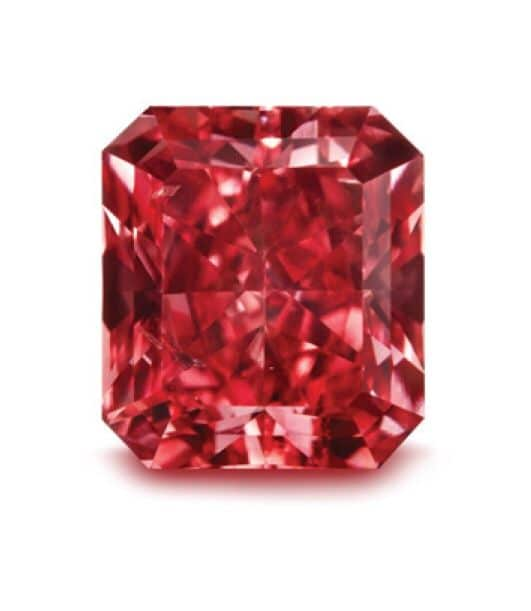 red - 0.21ct Natural Loose Fancy Red VVS1 Radiant GIA Certified