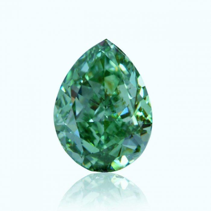 vivid bluish green loose diamond 700x700 - 1.02ct Natural Loose Fancy Vivid Bluish Green SI1 Pear GIA Certified