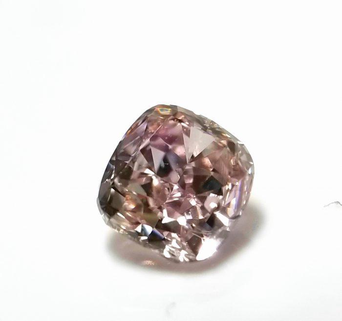 20181128 150555 1 700x658 - 0.37ct Natural Loose Fancy Light Purplish Pink Color Diamond GIA Cushion VS1