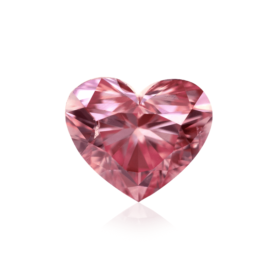 argyle heart pink diamond
