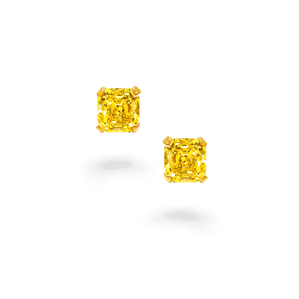 yellow diamonds earrings