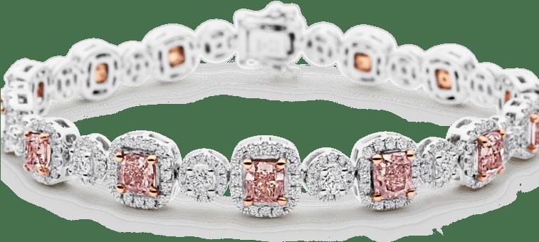pinkn diamond bracelet