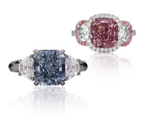 pink and blue diamonds investment