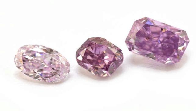 purple colored diamonds