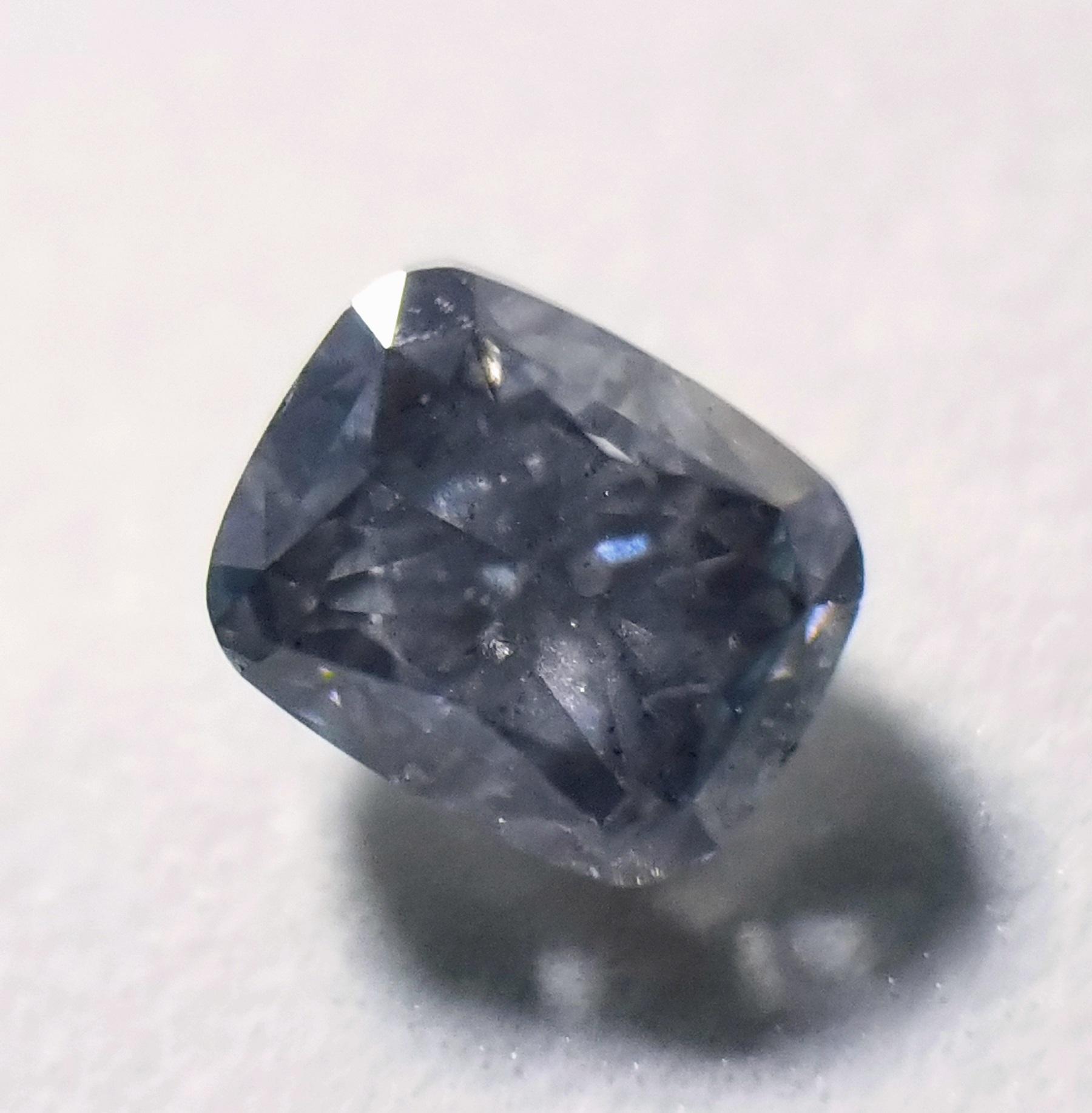 cushion blue diamond