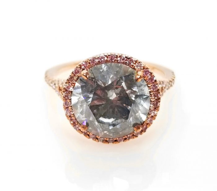 argyle gray pink diamond ring