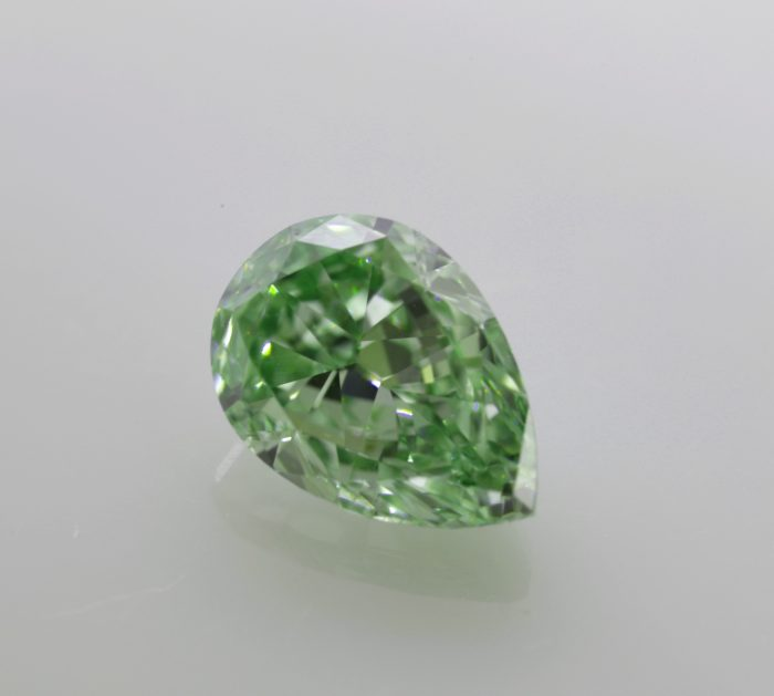 intense green diamond pear