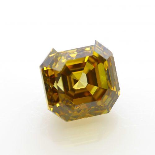 asscher cut yellow diamond