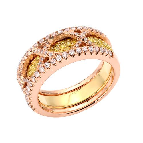 138ct Natural Fancy Pink Yellow Diamonds Engagement Ring 18K Solid Gold 9G 253670742490 - 1.38ct Natural Fancy Pink & Yellow Diamonds Engagement Ring 18K Solid Gold 9G