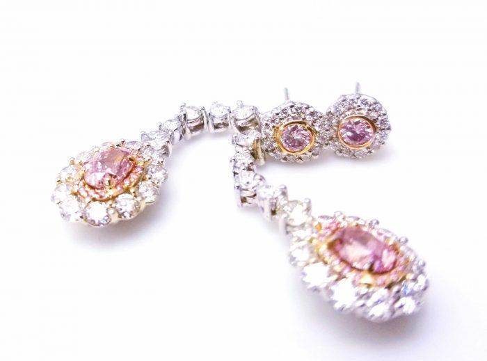 324ct Natural ARGYLE Fancy Pink Diamonds Earrings All GIA 18K White Gold VS SI 253848923550 3 700x519 - 3.24ct Natural ARGYLE Fancy Pink Diamonds Earrings All GIA 18K White Gold VS-SI