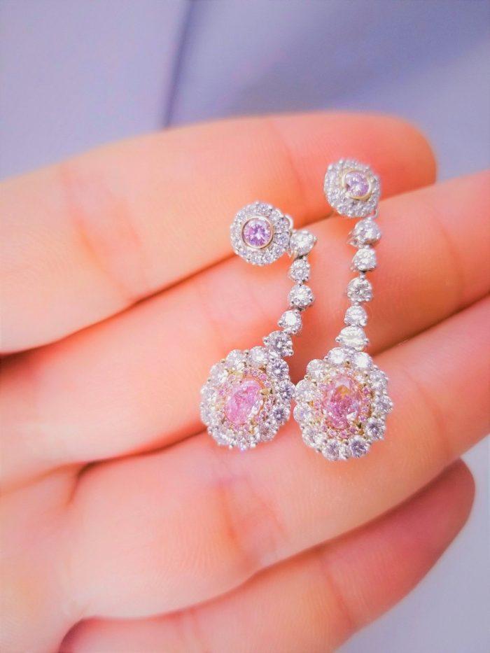 324ct Natural ARGYLE Fancy Pink Diamonds Earrings All GIA 18K White Gold VS SI 253848923550 4 700x933 - 3.24ct Natural ARGYLE Fancy Pink Diamonds Earrings All GIA 18K White Gold VS-SI