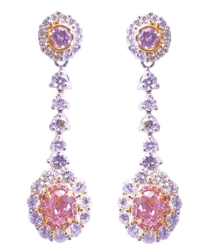 324ct Natural ARGYLE Fancy Pink Diamonds Earrings All GIA 18K White Gold VS SI 253848923550 700x856 - 3.24ct Natural ARGYLE Fancy Pink Diamonds Earrings All GIA 18K White Gold VS-SI