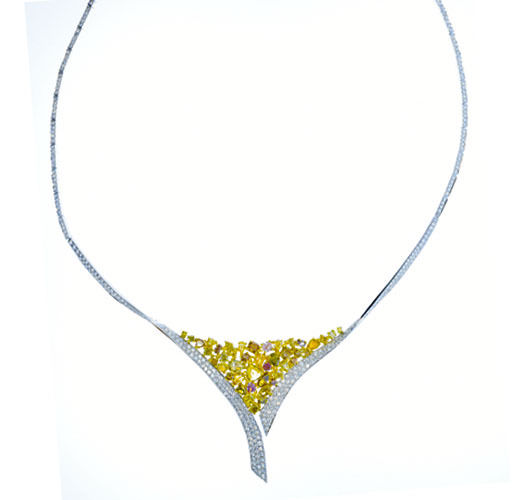 944ct Fancy Pink Yellow Diamonds Necklace 18K All Natural 26 Grams Real Gold 263781428850 2 - 9.44ct Fancy Pink & Yellow Diamonds Necklace 18K All Natural 26 Grams Real Gold