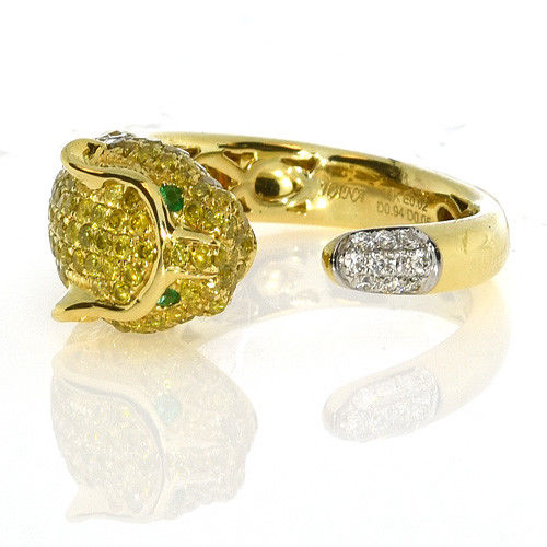Real 0.20ct Natural Fancy Yellow Diamonds Engagement Ring 18K Solid Gold 4G