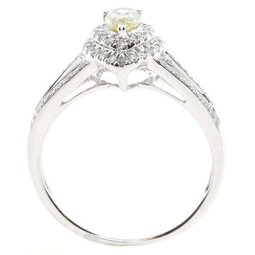 Real 073ct Natural Fancy Yellow Diamonds Engagement Ring 18K Solid Gold Pear 253693729970 3 - Real 0.73ct Natural Fancy Yellow Diamonds Engagement Ring 18K Solid Gold Pear