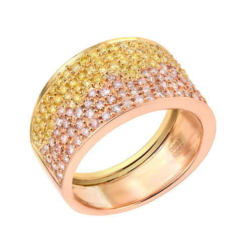 Real 1.26ct Natural Fancy Pink Diamonds Engagement Ring 18K Solid Gold 6G