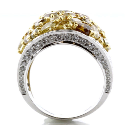 Real 841ct Natural Fancy Intense Yellow Diamonds Engagement Ring 18K Solid Gold 263755567510 3 - Real 8.41ct Natural Fancy Intense Yellow Diamonds Engagement Ring 18K Solid Gold