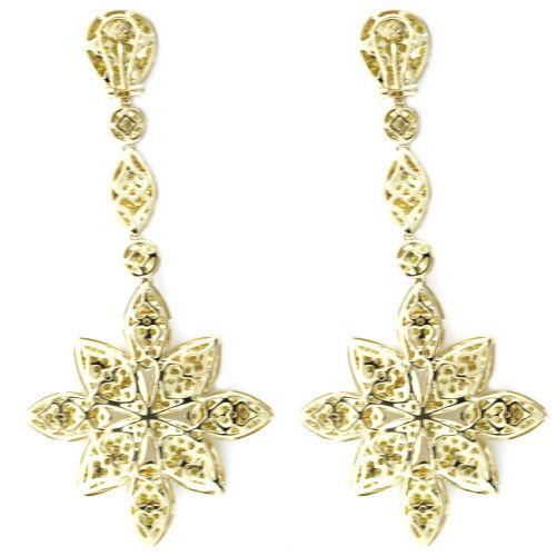 Real Fine 1161ct Fancy Yellow Diamonds Earrings 18K All Natural Flowers Gold 253794730620 2 - Real Fine 11.61ct Fancy Yellow Diamonds Earrings 18K All Natural Flowers Gold