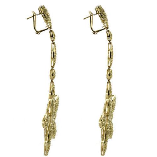 Real Fine 1161ct Fancy Yellow Diamonds Earrings 18K All Natural Flowers Gold 253794730620 3 - Real Fine 11.61ct Fancy Yellow Diamonds Earrings 18K All Natural Flowers Gold