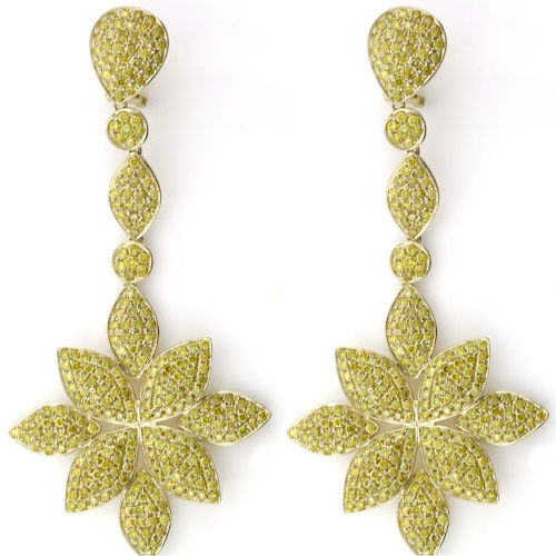 Real Fine 1161ct Fancy Yellow Diamonds Earrings 18K All Natural Flowers Gold 253794730620 - Real Fine 11.61ct Fancy Yellow Diamonds Earrings 18K All Natural Flowers Gold