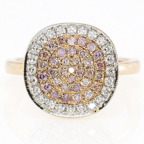 070ct Natural Fancy Pink Diamonds Engagement Ring 18K Solid Gold 5G Rounds 253670742451 2 - 0.70ct Natural Fancy Pink Diamonds Engagement Ring 18K Solid Gold 5G Rounds