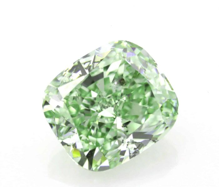 151ct Green Diamond Natural Loose Fancy Intense Green Color GIA Cushion 254344508001 700x599 - 1.51ct Green Diamond - Natural Loose Fancy Intense Green Color GIA Cushion