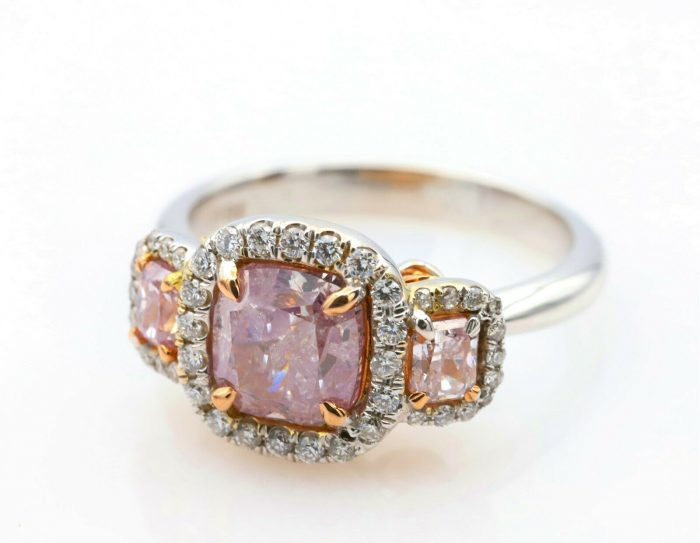 235ct Natural Fancy Pink Diamond Engagement Ring GIA 18K White Gold Cushion 264374211451 2 700x543 - 2.35ct Natural Fancy Pink Diamond Engagement Ring GIA 18K White Gold Cushion