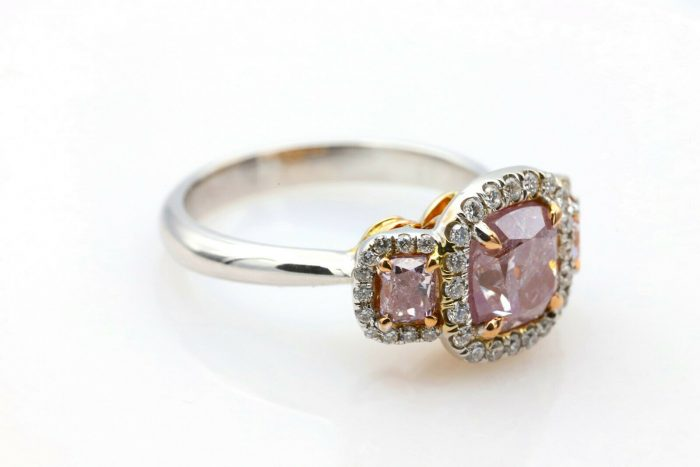 235ct Natural Fancy Pink Diamond Engagement Ring GIA 18K White Gold Cushion 264374211451 5 700x467 - 2.35ct Natural Fancy Pink Diamond Engagement Ring GIA 18K White Gold Cushion