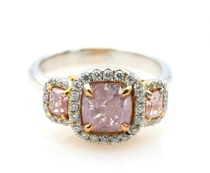 235ct Natural Fancy Pink Diamond Engagement Ring GIA 18K White Gold Cushion 264374211451 700x575 - 2.35ct Natural Fancy Pink Diamond Engagement Ring GIA 18K White Gold Cushion