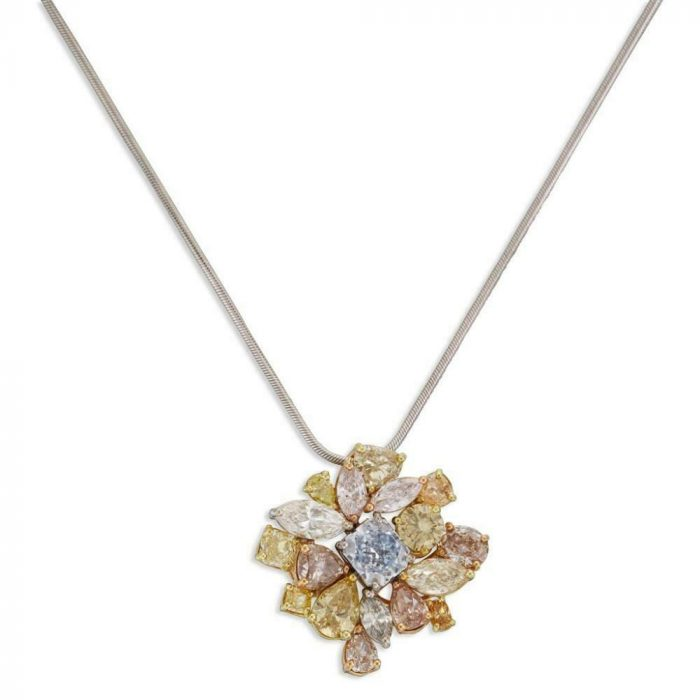 color diamonds pendant
