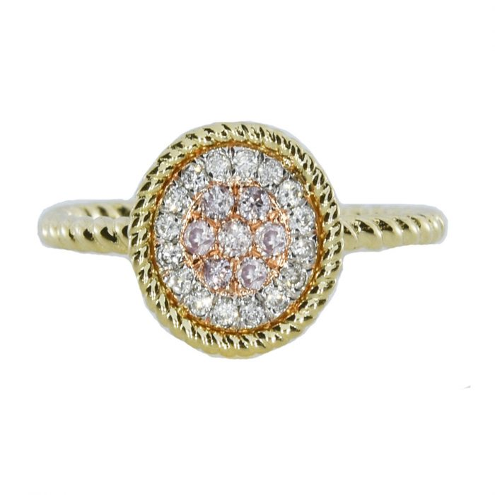 Real 024ct Natural Pink Purple Color Diamond Engagement Ring Round 18K VS SI 253676205241 700x700 - Real 0.24ct Natural Pink Purple Color Diamond Engagement Ring Round 18K VS-SI