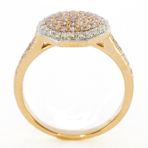 Real 088ct Natural Fancy Pink Diamonds Engagement Ring 18K Solid Gold 6G Band 253670742411 3 - Real 0.88ct Natural Fancy Pink Diamonds Engagement Ring 18K Solid Gold 6G Band